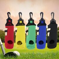 Golf Ball Bag Holder Clip Waterproof Pouch Sports Golf Accessories with 3 Tees