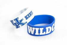 Kentucky Wildcats Wrist Bands PVC Silicone Rubber Bracelets 2 Pack