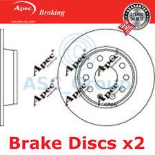 2 X Apec BRAKING 272mm Solide Original Qualität Ersatz Bremsscheiben (Paar)