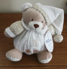 Special Delivery Brown & Cream Chubby Bear Comforter plush Soft Toy 8""