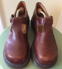 DR MARTENS POLLEY BROWN LEATHER MARY JANE WOMENS SZ 6 MADE IN ENGLAND