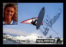 Sandra Gubelmann Autogrammkarte Original Signiert Surfen+A 125225