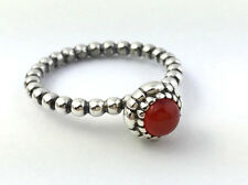 Authentic Pandora Birthday Blooms July Carnelian Ring Sz 6.5, 190854CAR-54, New