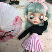1/6 BJD Dolls Clothes Pleated Skirt for Blythe Doll Pleated Skirt Outfits