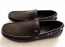 $895 BRIONI Brown Leather Shoes Loafers Moccasins Size 8 US 41 Euro 7 UK