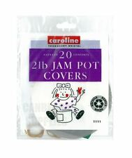 CAROLINE 20PK 2LB JAM PRESERVE PRESERVING POT JAR COVERS LABELS BANDS
