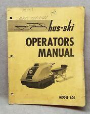 Huski Snowmobile Operators Manual Model 600.