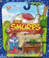 New Papa Smurf with Lab Smurfs Figure 2008 Jakks Pacific