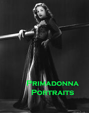 """JANE GREENWOOD 8X10 Lab Photo B&W '40s Sexy, Busty Negligee Portrait """"BACHRACH"""""""