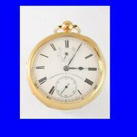 Mint 18k Gold Non-Fusee Liverpool Up/Down Pocket Watch 1901