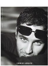 PUBLICITE ADVERTISING  2003   GIORGIO  ARMANI   collection lunettes