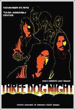 THREE DOG NIGHT 1970 Tulsa OK Concert Poster