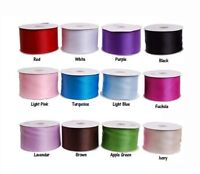 """3"""" Double Face Satin Ribbon Dress Bow Cake Gift Party Decoration"""