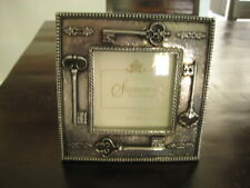 """Sherborne Frame Co Silvertone Picture Frame Holds 3 1/2"""" X 3 1/2"""" Photo"""