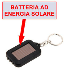 Solare Portachiavi 3 LED Chiavi elettrica torcia gadget nuovo regalo ga