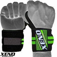 XENO BODYBUILDING WEIGHT LIFTING GYM TRAINING WRIST SUPPORT BAR STRAPS WRAPS