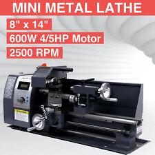 "Automatic 8""x14"" Variable-Speed Mini Metal Lathe Motor Metalworking Milling 600w"