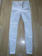"Women's Size Waist 30"" White High Waist Ankle Grazer Jeans from Topshop"
