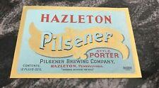 VINTAGE IRTP HAZLETON PORTER BEER PILSENER BRG CO 12 OZ BOTTLE LABEL HAZLETON PA