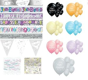 ENGAGEMENT PARTY DECORATIONS BALLOONS BANNERS CONFETTI  WEDDING DECORATIONS