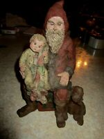 "Vintage Sarah's Attic Limited Edition ""Blessed Christmas"" Santa W/child & Dog"