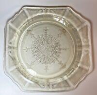 Vintage Anchor Hocking Yellow / Topaz Depression Glass Dish W Princess Decor