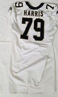 #79 Bryce Harris of New Orleans Saints NFL Locker Room Game Issued Worn Jersey