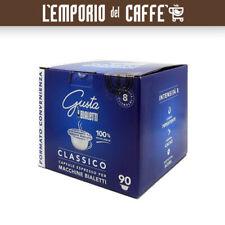 180 Capsule Alluminio Caffe Bialetti Gusta Classico Tostatura Scura Originali