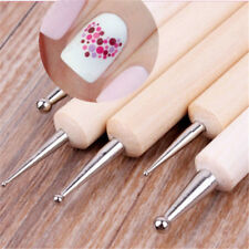 DIY 5X 2-Way Nail Art Dotting Dot Wooden Pen for Nails Manicure Marbleizing New
