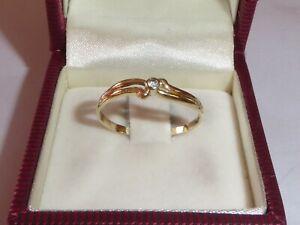 Ring 333 Gold 8K Gelbgold Zirkonia Goldring Verlobungsring RG 60 - 19 mm 3186b