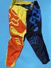 NEW FOX 360 PREME Pants Men's Size 36 Black/Yellow Orange Motocross