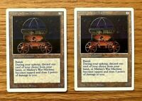2 count lot MISHRA'S WAR MACHINE - Revised 3rd edition  Magic the Gathering MTG