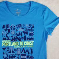 RARE Nike Portland To Coast Relay Race Tee Marathon Running Dri-Fit T-shirt XS