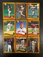 2002 TOPPS BASEBALL LOT (50) CARDS - STARS / ROOKIES / COMMONS
