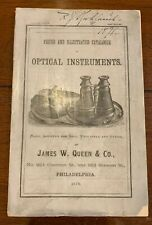 New listing James Queen Microscope Catalog Optical 1878 144 Pages Very Nice Condition