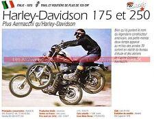 HARLEY DAVIDSON 175 et 250 SS SX ( AERMACCHI ) 1975 Fiche Moto 000174