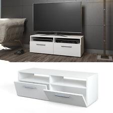 Meuble bas TV Armoire Table pour téléviseur Sideboard Étagère Rack Blanc briquer
