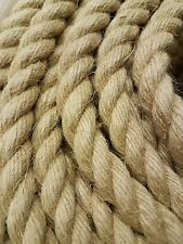 18mm NATURAL HEMP (FLAX) ROPE DECKING DECORATIVE GARDENING Priced per meter
