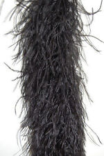 4 Ply Ostrich Feather Boa -Black color ,2 Yards; Costumes/Craft/Bridal/Tri m 72""
