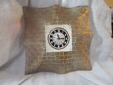 Vintage Bilt-Rite Self-Starting Brass Mesh Clock 12""