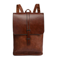 Mens Vintage Retro Backpack Faux Leather Sports Satchel Travel Hiking School Bag