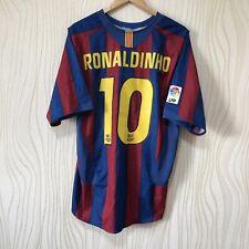 BARCELONA 2005 2006 HOME FOOTBALL SHIRT SOCCER JERSEY NIKE RONALDINHO #10