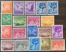More details for seychelles. definitive stamp set. sg174/88. 1954-61. (1 feb). mnh. #ets137.