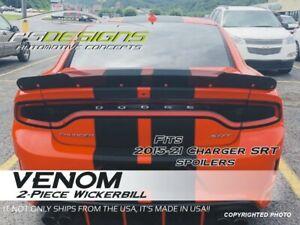 Dodge Charger 2 Piece SRT SCAT Hellcat Rear Wicker Bill Spoiler 15-20