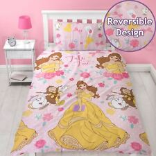 DISNEY PRINCESS BELLE ROYAL PINK SINGLE DUVET COVER SET CHILDRENS BEDDING NEW