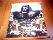1976 GIANT 88X34 KING KONG 2 PART WALL POSTER