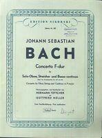 Bach - Concerto F-dur für Solo Oboe, Streicher und Basso continuo - Erste Veröff