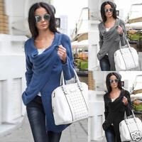 New Women Long Sleeve Knitted Sweater Jumper Knitwear Cardigan Outwear Coat