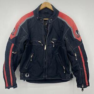 Belstaff Motorcycle Jacket Men's L Black Padded Armored Protective England