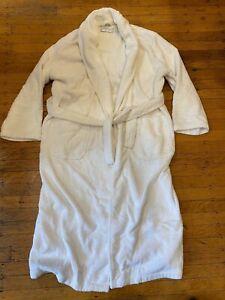 Restoration Hardware Men's Turkish Robe Size Small / Medium White All Cotton